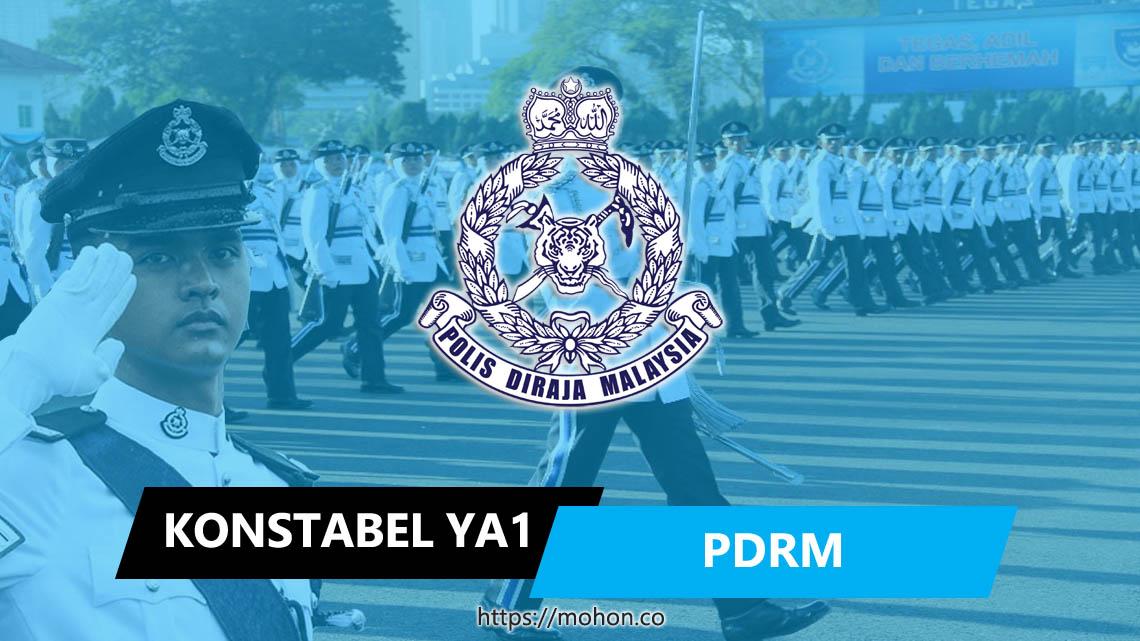 Konstabel Polis Gred YA1 (Lelaki Sahaja)
