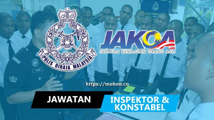 Inspektor & Konstabel Orang Asli Gred YP1